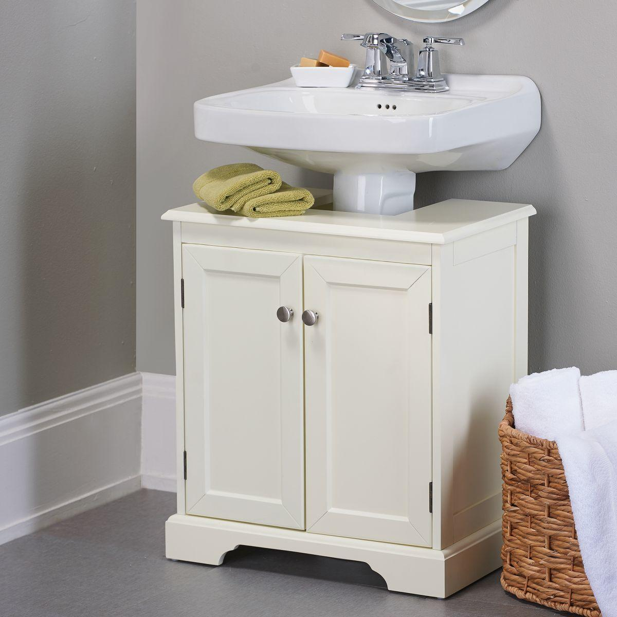 sink bathroom cabinet weatherby bathroom pedestal sink storage from improvements 26171