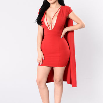 Take Control Dress - Red