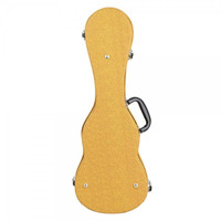 "21"" High-grade Leather Soprano Ukulele Yellow Case"