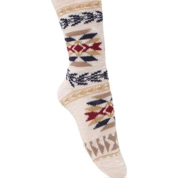 With Love From CA Aztec Boot Socks - Womens Scarves - Multi - One