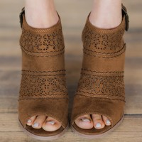 Not Rated Girl B Flossin Booties ~ Tan
