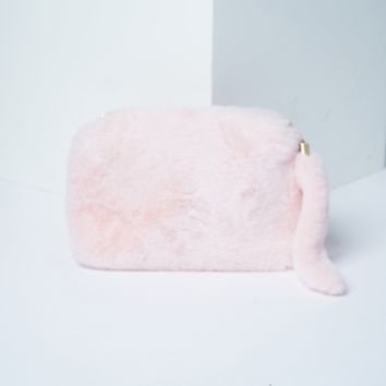 Tail Key Chain Faux Fur Clutch