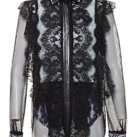 LANVIN | Lace Shirt with Sequin Embellishment | Browns fashion & designer clothes & clothing