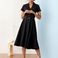 ULTRA 9 STRETCH WOOL AUDREY DRESS