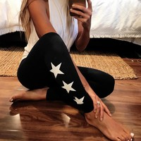 Winter Women's Fashion Print Slim Thicken Yoga Leggings [50106793999]