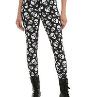 Blackheart Black & White Skull Leggings