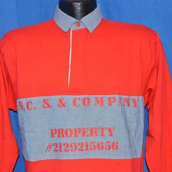 80s Coke Coca Cola Deadstock Long Sleeved Polo Shirt Small
