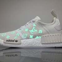 Best Online Sale Louis Vuitton LV x Adidas Consortium NMD White Luminous BA7245 Boost Sport Running Shoes Casual Shoes Sneakers