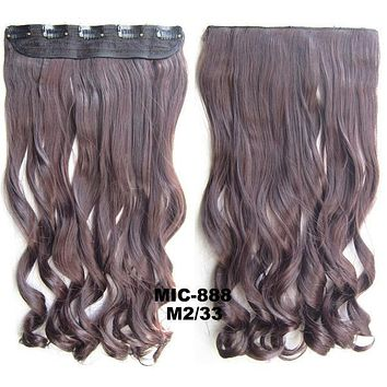 Bath & Beauty 5 Clip in synthetic hair extension hairpieces wavy slice curly hairpiece MIC-888 M2/33,Hair Care,fashion Cosplay ombre 1PC