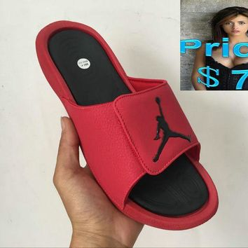 Real unisex Air Jordan Hydro 6 sandals slide slipper chinese-red shoes