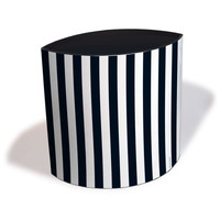 Black & White Waste Bin | Collapsible Cardboard Baskets