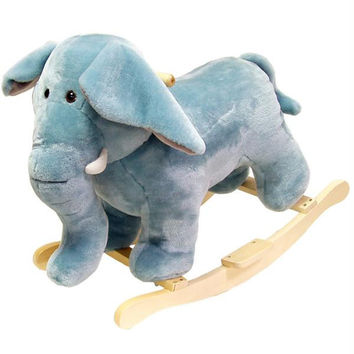 HAPPY TRAILS? Elephant Plush Rocking Animal