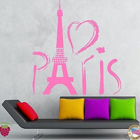 Paris Eiffel Tower Europe Tourist  Mural  Wall Art Decor Vinyl Sticker z706