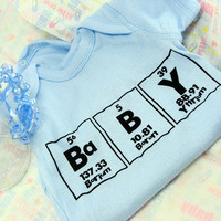 Baby of Chemistry Onesuit Blue with Black 6 by ShopGibberish