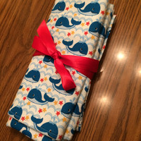 Whale Swaddle Blanket; Baby, Baby boy, Baby shower gift
