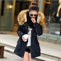 Asian Winter Parka Coat With Fur Hood YRB0585