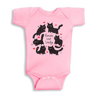 Future Cat Lady Baby Onesuit, Baby Girl Outfit, Newborn Cat Shirt, Cat Lady Shirt, Cat Onesuit, Cat Baby Onesuit, Cat Baby Clothes