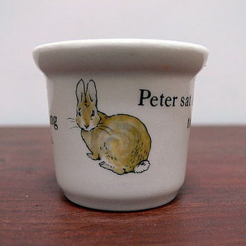 Vintage Wedgwood Peter Rabbit Egg Cup Made in by EitherOrFinds