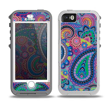 The Bold Colorful Paisley Pattern Skin for the iPhone 5-5s OtterBox Preserver WaterProof Case