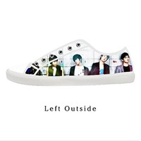 Custom SHINEE Korea Popular Male Group Women's Canvas Shoes Fashion Shoes for Women