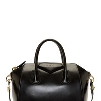 Givenchy Black Leather Antigona Small Duffle Bag