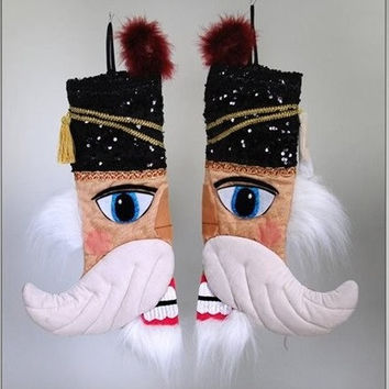 Katherine's Collection Nutcracker Christmas Stocking