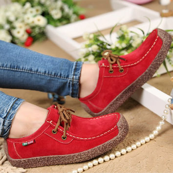 Casual Cowhide Leather Shoes