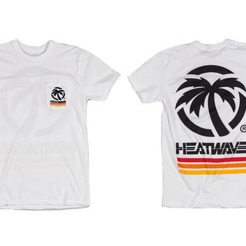 Heat Wave 4 Speed Pocket T-Shirt White