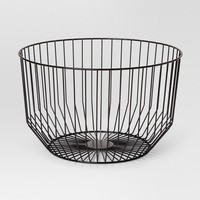 Round Wire Basket Large - Black - Project 62™