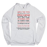 She's the man hoodie-Unisex White Hoodie