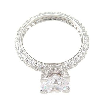 925 Sterling Silver Eternity Wedding Ring 1.5 Carat Weight - Size 9