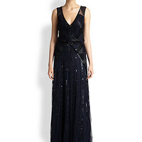 Aidan Mattox - Deco Beaded Blouson Gown