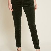 Teaching Ease Corduroy Skinny Pants in Green