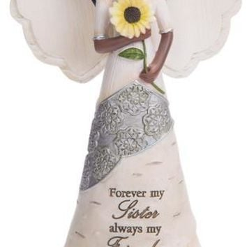 Forever my Sister always my Friend Ebony Angel Figurine