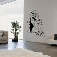 Sexy Girl Wall Art Sticker Decal Ar727