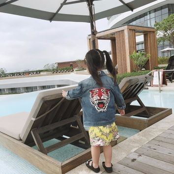 Trendy Kids Denim Jacket Embroidered Denim Coat Clothing Spring Summer Fashion 2-7Y Children Jacket AT_94_13