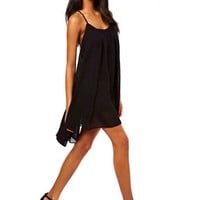 Women Summer Sexy Chiffon Backless Casual Skater Beach Bohemian Mini Dress