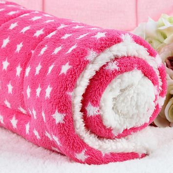 Winter Warm Dog Bed Mats Candy Colors Thicken Fleece 3 Sizes Pet Dog Blankets Suit For Small Medium Puppy Dogs 10 Styles
