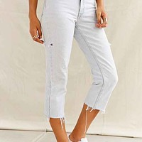 Urban Renewal Recycled Bleach Capri Jean- Indigo