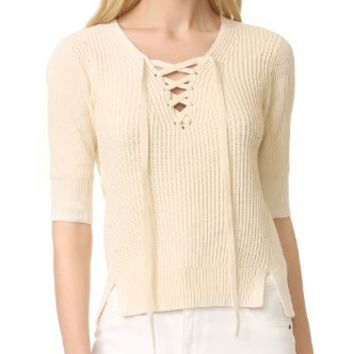 Marley Lace Up Sweater