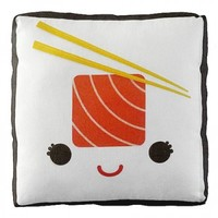 Handmade Gifts | Independent Design | Vintage Goods Mini Happy Sushi Pillow - Salmon Roll - For The Home