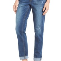 Wit & Wisdom Ripped Slim Straight Leg Ankle Jeans (Regular & Petite) (Nordstrom Exclusive) | Nordstrom