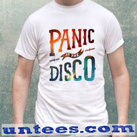 Panic At The Disco Logo On Galaxy Clothing Tshirt Unisex/Mens