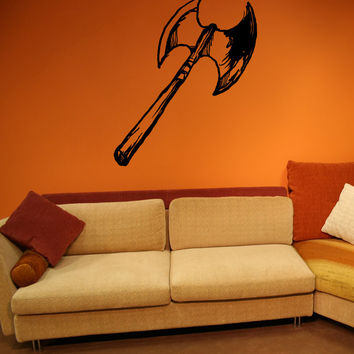 Vinyl Wall Decal Sticker Battle Ax #OS_MB859