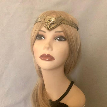 Wonder Woman Tiara Crown Headpiece Headband Cosplay Costume Head Piece DC Comics Hair Medallion (941)