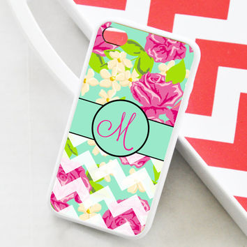 Personalized iPhone 5s Case, Lilly Pulitzer Inspired iPhone 5c Case, Personalized iPhone 4s Case, Rose iPhone 5s Case, iPhone 4 Case