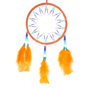 "5 Assorted Beaded Dream Catcher Ornament Ring Diam. 6.5"" Diam Great Truck, Boat, Bedroom, Work Cubicle, Office ( Unit Price $ 7.50)"
