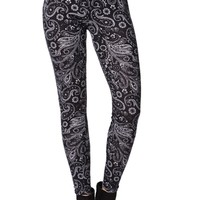 LA Hearts Sweater Paisley Leggings - Womens Pants - Paisley