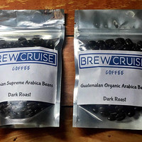 Fresh Roasted Guatemalan and Colombian Supremo Arabica Coffee Bean Sample Pack 2oz each 4 oz total.