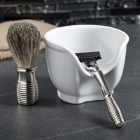 Impact Chrome Shave Set with Soap Dish